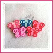 Lotto 5 sagome in legno farfalla grande