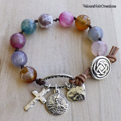 Bracciale arcangelo Michele e pietre dure