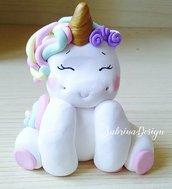 Cake topper unicorno, festa unicorno, cake topper nascita, cake topper battesimo, torta unicorno, compleanno unicorno, topper compleanno