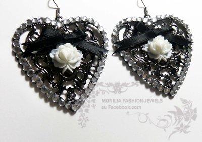 orecchini gothic vintage vittoriani chandelier