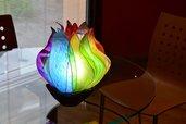 """Lampada da Tavolo: """"Ruota di Colori/Arcobaleno"""""""