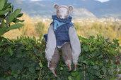 Marmotta Oscar, animaletto favoloso creato a mano