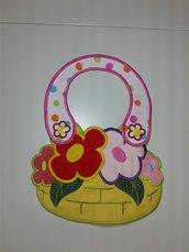 bavaglino girl cestino di fiori