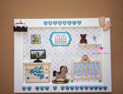 Quadretto da bambino per il primo compleanno. Idea regalo personalizzabile