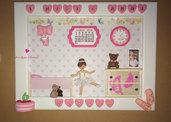 Quadretto da bambina per ricordare i sei anni. Idea regalo personalizzabile.
