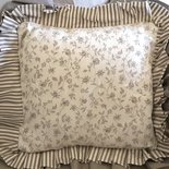 Fodera cuscino 40 x 40 Shabby Chic - Fiorellini Balza doppia