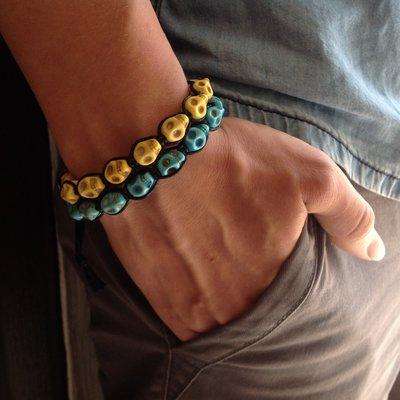 Bracciali teschietti colorati