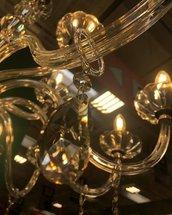 Gocce, braccia, catene o cristalli pendenti, pezzi di ricambio per lampadari, in vetro di Murano, cristallo Swarovski o Bohemia, ambra o trasparente