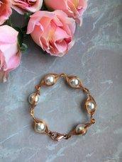 Bracciale wire con filo di rame e perle cerate di vetro