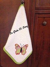 Asciugamano con farfalla