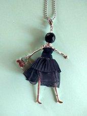 Collana bambolina cucita a mano