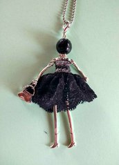 Collana bambolina nera
