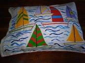 Cuscino con barche