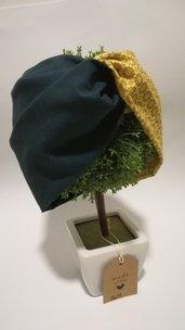 Fascia capelli con elastico a turbante