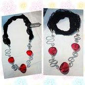Collana lunga *red&black*