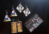 orecchini stampe quadri famosi