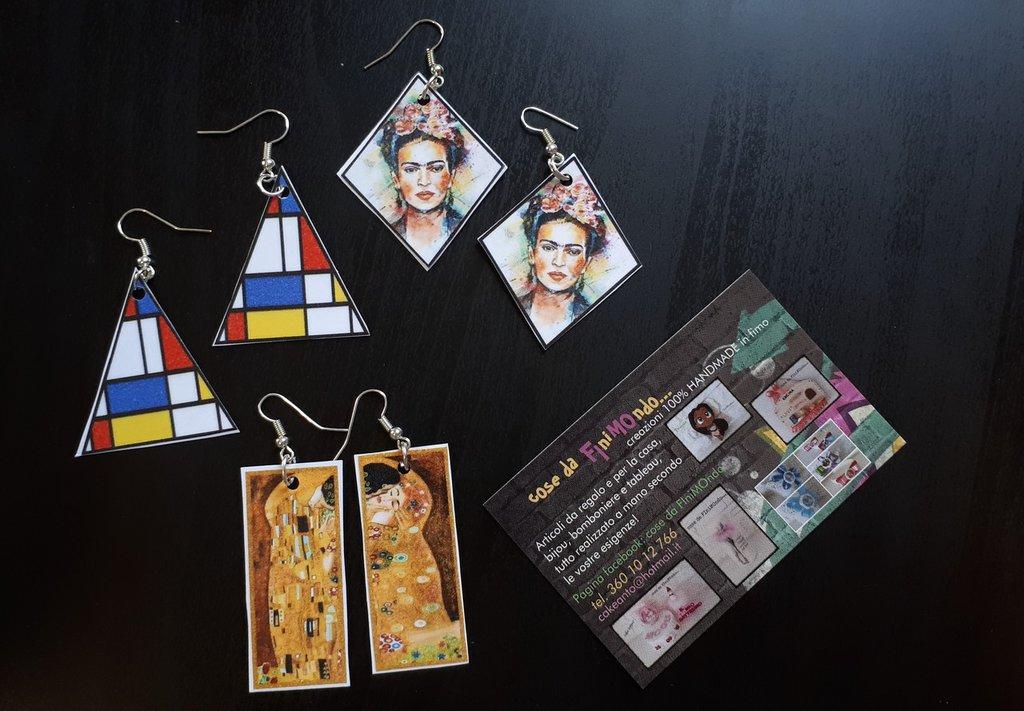 orecchini stampe quadri famosi - Gioielli - Orecchini - di cose da ...