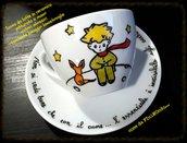 Tazza da latte dipinta piccolo principe