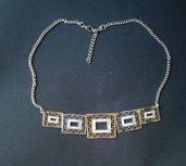 Collana, girocollo, collana elegante, collana etnica, collana vintage, regalo per lei, per la mamma, made in Italy, collana cerimonia