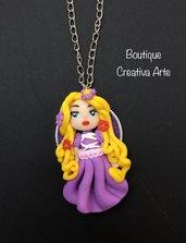 Collana Rapunzel in fimo - Principesse
