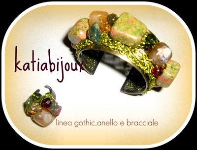 linea gothic....parure bracciale+anello