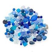 Perle Vetro Mix Blu (90pz circa)