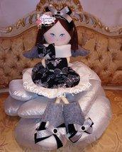 Bambola angelo in feltro camy