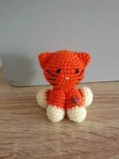 Gattino all'uncinetto amigurumi