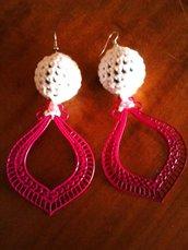 Orecchini con palline in crochet