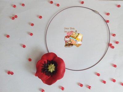 Collana Papavero fiore