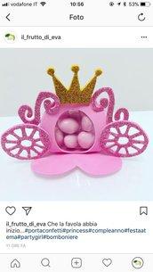 Portaconfetti carrozza principessa