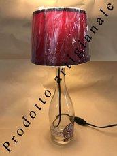 Lampada abat-jour bottiglia di vetro