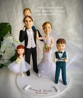 Cake topper sposi personalizzati in porcellana fredda