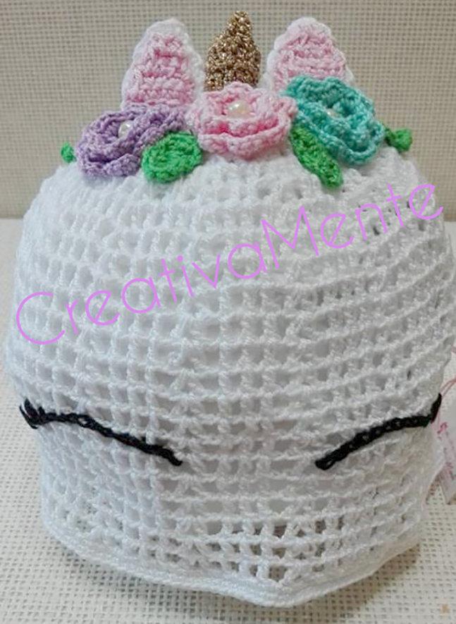 Cappello Uncinetto 23 Anni Dolce Unicorno Bambini Abbigliame