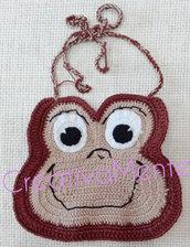Simpaticissimo bavaglino Scimmietta  realizzato all'uncinetto