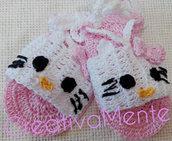 simpatici sandali all'uncinetto Hello Kitty 6/9 mesi