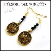 """orecchini zodiac ♉ """" Toro """" segni zodiacali idea regalo personalizzabile con clip su richiesta"""