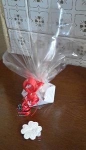 *10* Confezione Regalo con 6 Quadrifogli portafortuna profuma biancheria per qualsiasi evento, NATALE,  Compleanno, Souvenir, Festa della Mamma, pacco regalo