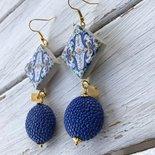 Orecchini maioliche blu