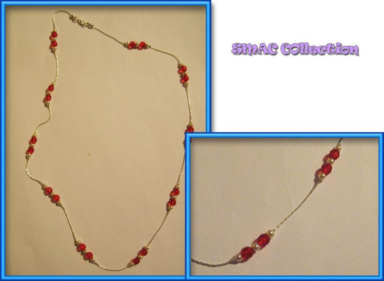 Collana perle rosse
