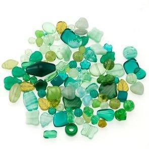Perle Vetro Mix Verde (90pz circa) (50gr)