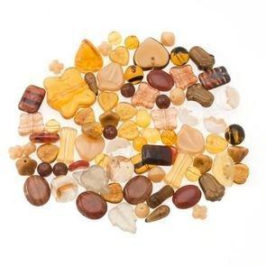 Perle Vetro Mix Marrone (90pz circa) (50gr)