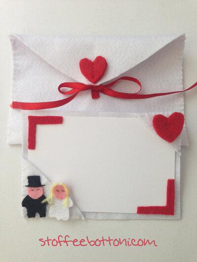 Biglietto d'auguri per matrimonio in panno