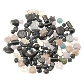 Perle Vetro Mix Nero/Grigio (90pz circa) (50gr)
