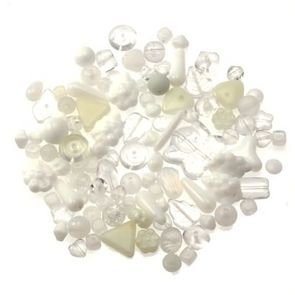 Perle Vetro Mix Bianco(90pz circa) (50gr)