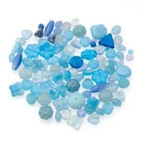 Perle Vetro Mix Celeste(90pz circa) (50gr)