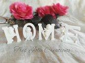 scritta home arredamento casa lettere e nomi per tavolo sweet table e decorazioni cameretta shabby