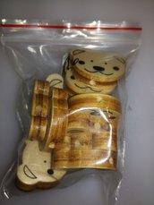 10 pezzi lotto orsetti legno neutri distanziatore portaciuccio