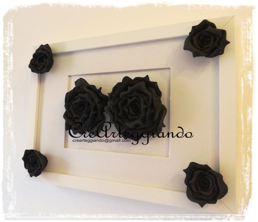 Quadro con Rose nere