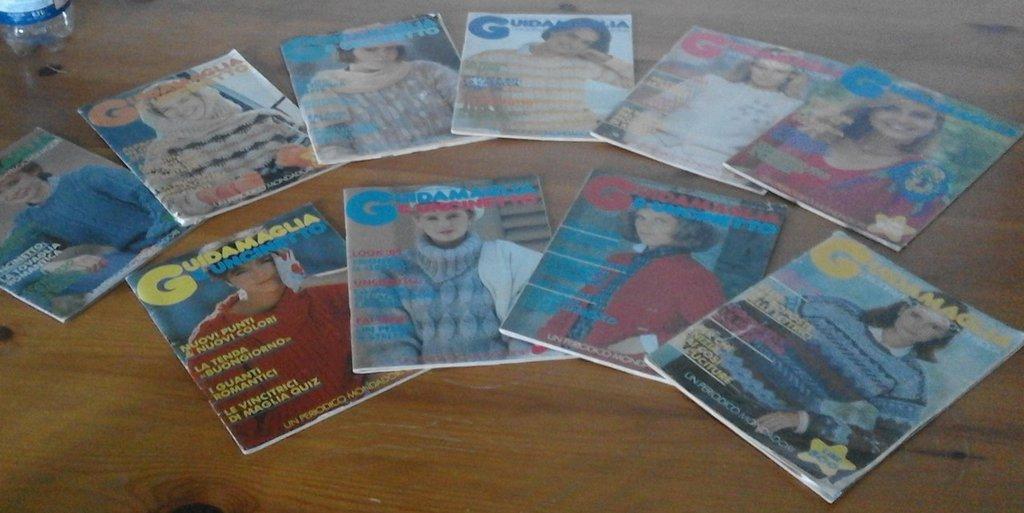 riviste maglia uncinetto vintage